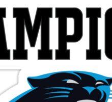 Carolina Panthers Champions Super Bowl 50 2016 Sticker