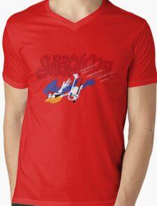 Super Chicken Mens V-Neck T-Shirt