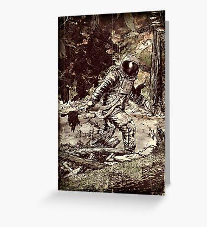 Spaceman Greeting Card