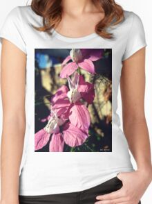 Pink Delphinium Women's Fitted Scoop T-Shirt