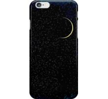 Crescent Moon On A Starry Night  iPhone Case/Skin