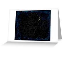 Crescent Moon On A Starry Night  Greeting Card