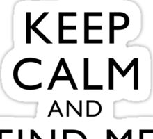 Freddie Mercury Keep Calm Sticker