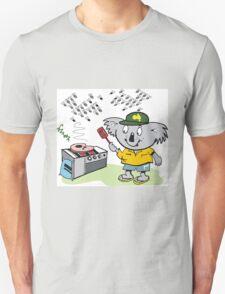 Cartoon of happy koala bear using barbecue Unisex T-Shirt