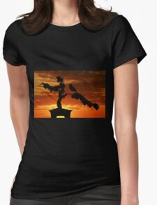 Zen Sunset Womens Fitted T-Shirt