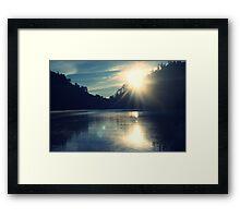 The highest mountain paradise island of Java Framed Print