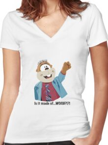 Mr Woodchuck Women's Fitted V-Neck T-Shirt