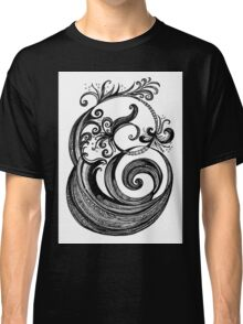 The Letter E, Ink Drawing Classic T-Shirt