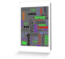"""""""Gamer Tags - COLORS""""© Greeting Card"""