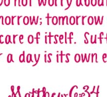 Matthew ; Lilly Bible Quote Sticker