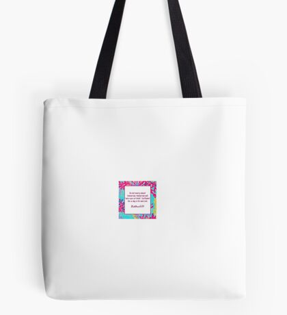 Matthew ; Lilly Bible Quote Tote Bag