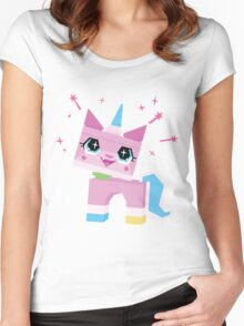 Unikitty Women's Fitted Scoop T-Shirt