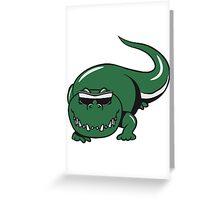 Crocodile dangerous cool sunglasses Greeting Card