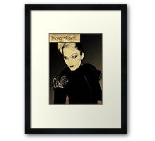 Never Again. Framed Print