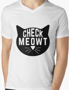 "Funny Quote ""Check Meowt"" Mens V-Neck T-Shirt"