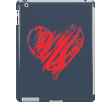 valentine day heart as wells as happy iPad Case/Skin