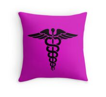 Nurse angle breast cancer Throw Pillow