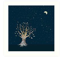 Moonlit Tree Art Print