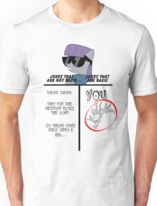 Basic of Jokes (BLACK TEXT) Unisex T-Shirt