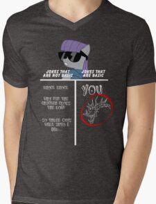 Basic of Jokes (WHITE TEXT) Mens V-Neck T-Shirt
