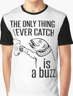 """Funny Quote """"Drinking Fish"""" Graphic T-Shirt"""