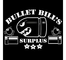 Bullet Bills Surplus Photographic Print