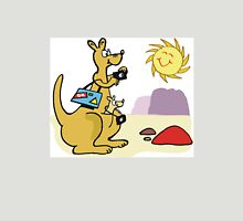 Cartoon kangaroo taking photographs in outback Unisex T-Shirt