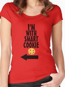 I'm With Smart Cookie Women's Fitted Scoop T-Shirt