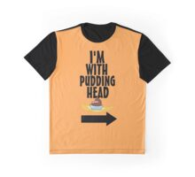 I'm With Pudding Head Graphic T-Shirt