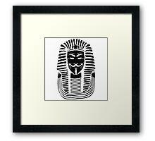 Pharaoh V For Vendetta Framed Print