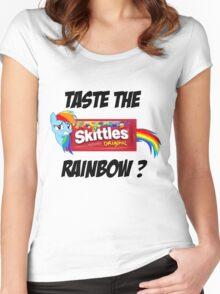 Taste The Rainbow? (BLACK TEXT) Women's Fitted Scoop T-Shirt