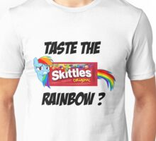 Taste The Rainbow? (BLACK TEXT) Unisex T-Shirt