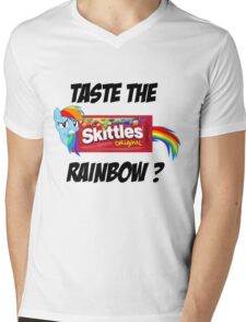 Taste The Rainbow? (BLACK TEXT) Mens V-Neck T-Shirt