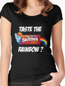 Taste The Rainbow? (WHITE TEXT) Women's Fitted Scoop T-Shirt