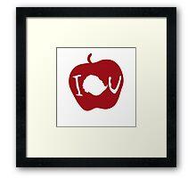 IOU Sherlock Apple Framed Print
