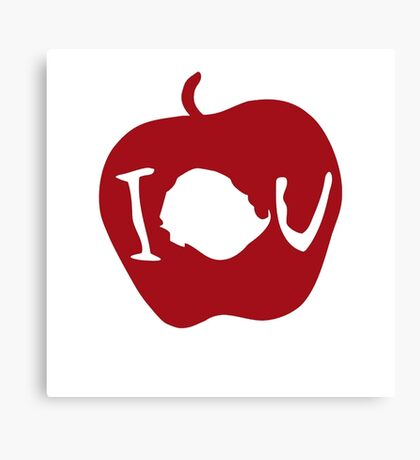 IOU Sherlock Apple Canvas Print