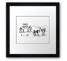 Zoo Humour - Cartoon 0016 Framed Print