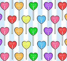 all 7 heart lollipops by skyekathryn