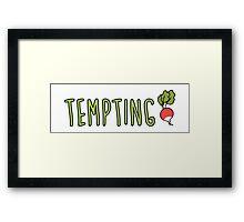 Tempting Radish Framed Print