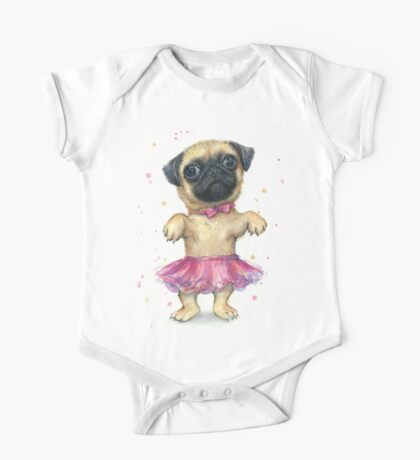 Pug in a Tutu One Piece - Short Sleeve