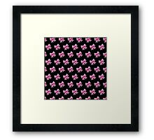 Bow Emoji Pattern Black Framed Print