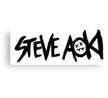 STEVE AOKI BASIC LOGO Canvas Print