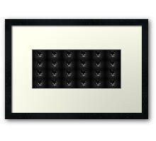 Monochrome pussies galore Framed Print