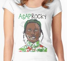 A$AP ROCKY SMOKE WEED Women's Fitted Scoop T-Shirt