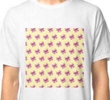 Bow Emoji Pattern Yellow Classic T-Shirt