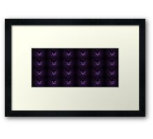 Purple pussies galore Framed Print
