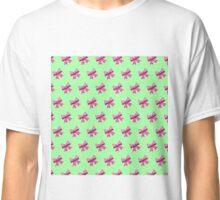 Bow Emoji Pattern Green Classic T-Shirt