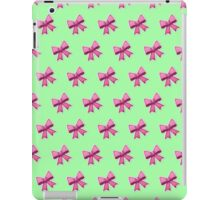 Bow Emoji Pattern Green iPad Case/Skin