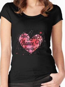 We Fall In Love By Chance, We Stay In Love By Choice - Valentines Day Special Quotes Women's Fitted Scoop T-Shirt