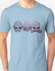 hear no, see no, speak no Unisex T-Shirt